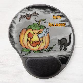 Tapis De Souris Gel Fantôme, batte et chat, Halloween heureux !
