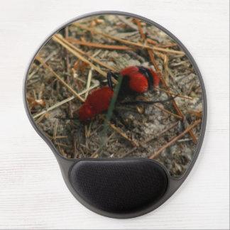 Tapis De Souris Gel Fourmi rouge de velours, gel Mousepad.