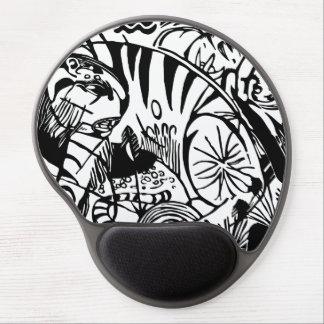 Tapis De Souris Gel Franz Marc - tigre noir et blanc - art abstrait