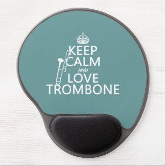 Tapis De Souris Gel Gardez le calme et aimez le trombone (toute