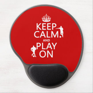 Tapis De Souris Gel Gardez le calme et le jeu sur (le