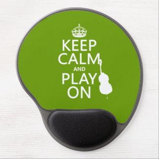 Tapis De Souris Gel Gardez le calme et le jeu sur (violoncelle) (toute