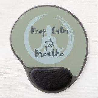 Tapis De Souris Gel Gardez le calme et respirez juste le gel Mousepad