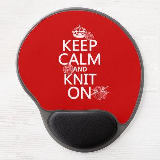 Tapis De Souris Gel Gardez le calme et tricotez dessus - toutes les