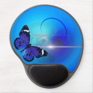 Tapis De Souris Gel Gel bleu Mousepad de papillon