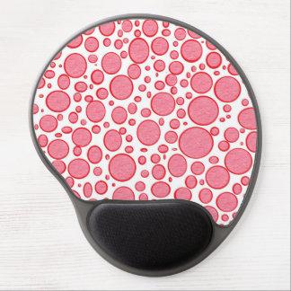 Tapis De Souris Gel Gel éclairé par bulles rouges Mousepad