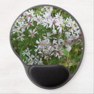 Tapis De Souris Gel Gel Mousepad de fleur sauvage d'aster de calicot