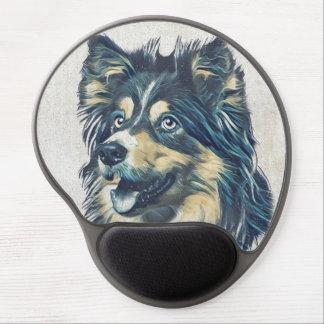 Tapis De Souris Gel Gel Mousepad de peinture de chien de berger de