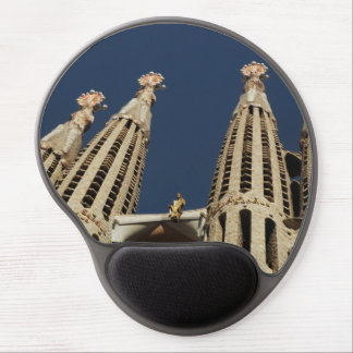 Tapis De Souris Gel Gel Mousepads de cathédrale de Barcelone Espagne