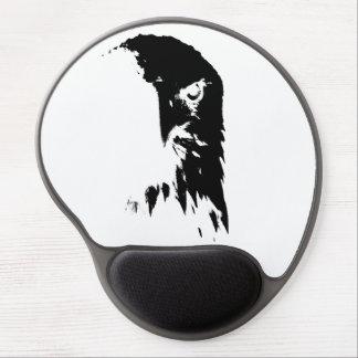 Tapis De Souris Gel Gel noir et blanc Mousepad d'Eagle chauve