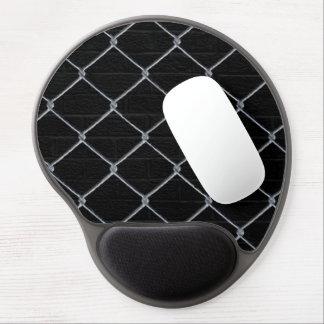 Tapis De Souris Gel Gel noir Mousepad de barrière de mur de briques et