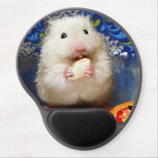 Tapis De Souris Gel Hamster syrien pelucheux Kokolinka mangeant une gr
