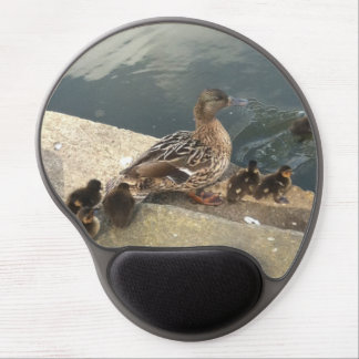 Tapis De Souris Gel le canard de maman et les canetons de bébés