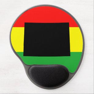 Tapis De Souris Gel Le Colorado noir sur des couleurs de Rasta
