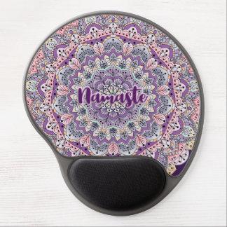 Tapis De Souris Gel Mandala floral rose de Namaste et pourpre mignon