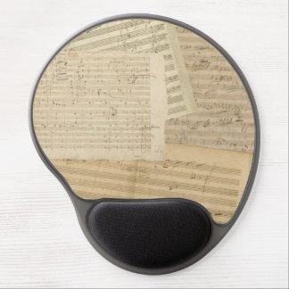 Tapis De Souris Gel Mélange de manuscrit de musique de Beethoven