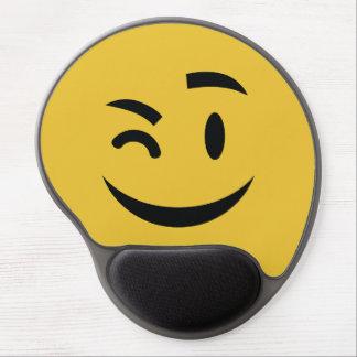 Tapis De Souris Gel Mignon clignant de l'oeil à vous l'emoji