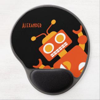 Tapis De Souris Gel Moderne frais personnalisé par robot noir orange