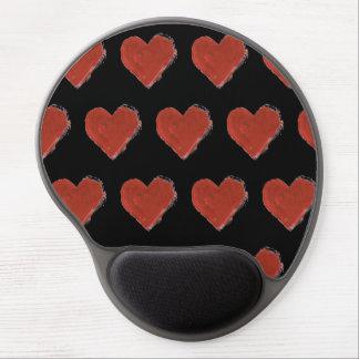 Tapis De Souris Gel Motif rouge 2 de coeurs d'amour