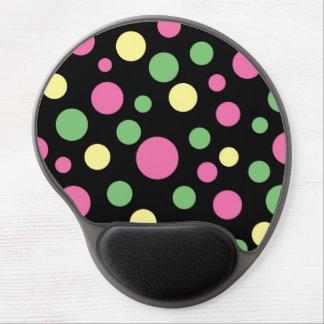 Tapis De Souris Gel Mousepad coloré de gel de motif de pois