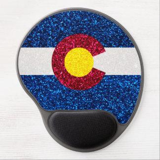 Glitter Colorado flag gel mousepad