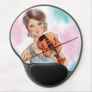 Tapis De Souris Gel Mousepad vintage original de gel d'art - violon