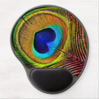 Tapis De Souris Gel Plume élégante de paon avec l'oeil en forme de coe