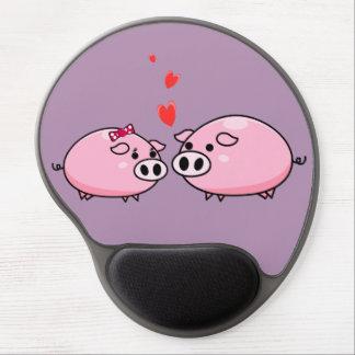 Tapis De Souris Gel Porcs dans le mousepad d'amour