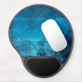 Tapis De Souris Gel Regard grunge bleu de motif abstrait