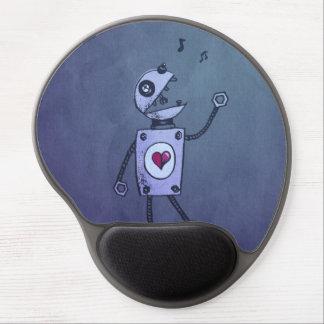 Tapis De Souris Gel Robot heureux grunge de chant ergonomique