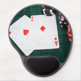 Tapis De Souris Gel Style de grunge de cartes et de jetons de poker de