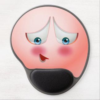 Tapis De Souris Gel Superbe lancez et Emoji rose de rougissement