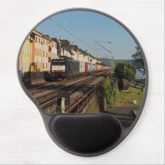Tapis De Souris Gel Train de marchandises dans les Lorchhausen au Rhin