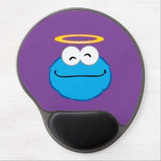 Tapis De Souris Gel Visage de sourire de biscuit avec le halo