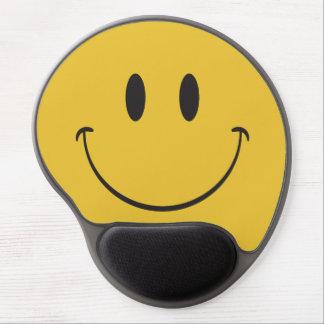 Tapis De Souris Gel Visage heureux Emoji de grand sourire superbe