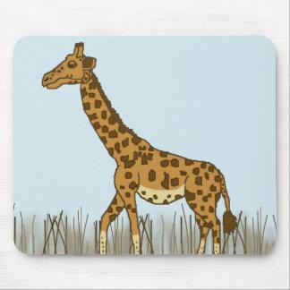 Tapis De Souris Girafe dans les prairies