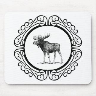 Tapis De Souris grand art d'orignaux de taureau