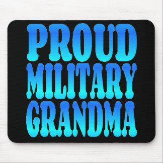 Tapis De Souris Grand-maman militaire fière dans le bleu