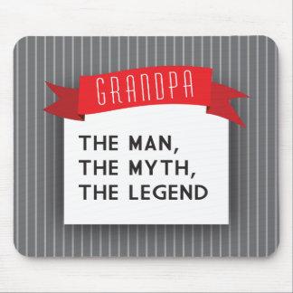 Tapis De Souris Grand-papa - l'homme, le mythe, la légende