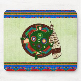 Tapis De Souris Grenouille d'art populaire de Natif américain