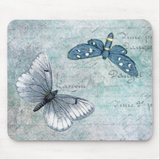 Tapis De Souris Grunge vintage de Français de papillons