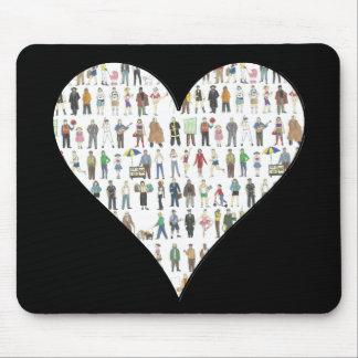 Tapis De Souris Habitants noirs Mousepad de New York City de coeur