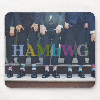 Tapis De Souris HAMbyWG - hommes montrant des chaussettes - tapis