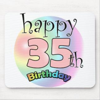 Tapis De Souris Happy 35th birthday (rose)