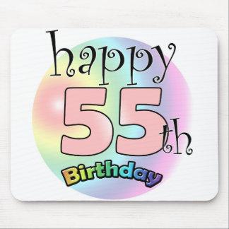 Tapis De Souris Happy 55th birthday (rose)