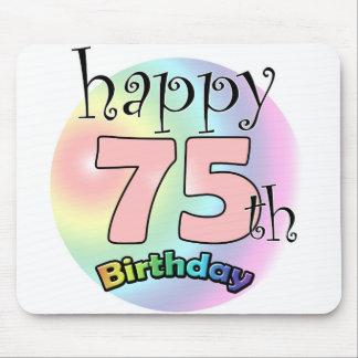 Tapis De Souris Happy 75th birthday (rose)