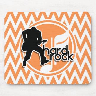 Tapis De Souris Hard rock ; Chevron orange et blanc