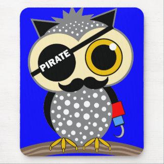 Tapis De Souris hibou mignon de pirate