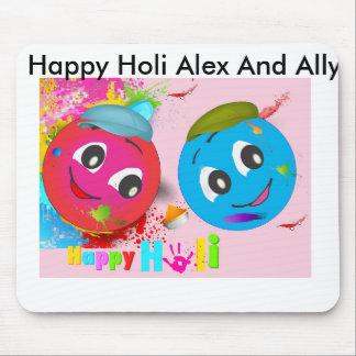 Tapis De Souris Holi heureux Alex et allié