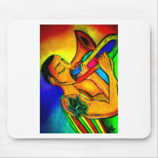 Tapis De Souris Homme de jazz d'arc-en-ciel